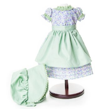 "Little House Summer Prairie Dress for 18"" Dolls"