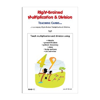 Right-Brained Multiplication & Division Teaching Cards