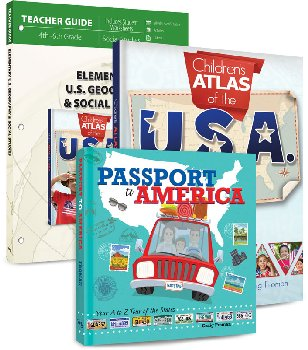 Elementary U.S. Geography & Social Studies Curriculum Package