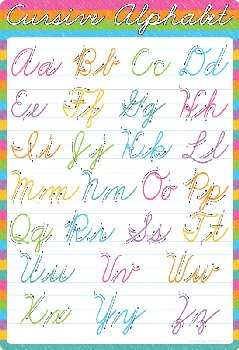 Traditional Cursive Smart Poly Wipe-Off Chart