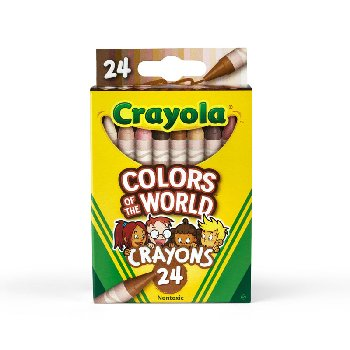 Crayola Colors of the World Crayons - 24 count
