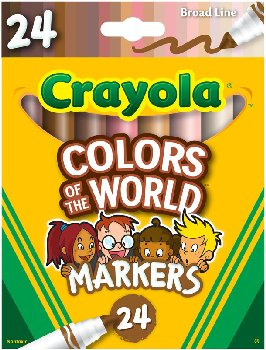 Crayola Colors of the World Markers - 24 count