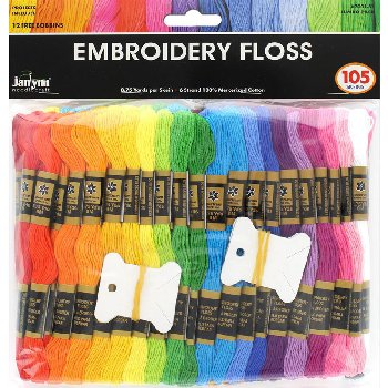 Janlynn Embroidery Floss Pack - Jumbo 105 piece