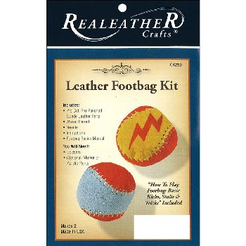 Realeather Footbag Kit (2 piece)