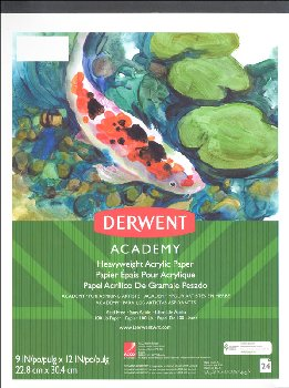 "Derwent Academy Acrylic Pad 9""x12"", 24 Count"