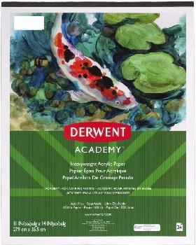 "Derwent Academy? Acrylic Paint Pad 11""x14"", 24 Count"