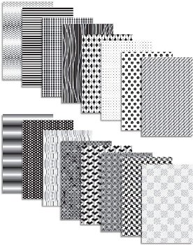 Black & White Pattern Paper