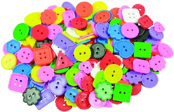 Bright Buttons (assorted sizes/shapes/sizes/colors) 1/2 pound