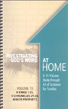 Investigating God's Word at Home Volume 10