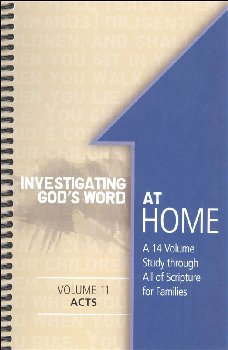 Investigating God's Word at Home Volume 11