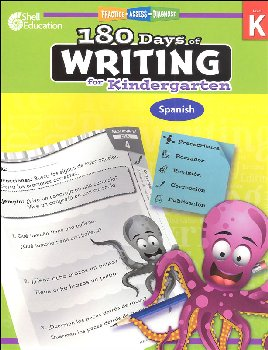 180 Days of Writing for Kindergarten (Spanish)
