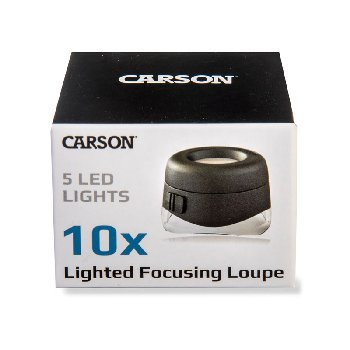 VersaLoupe 10x LED Lighted Focusing Loupe Magnifier