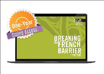 Breaking the French Barrier Level 1 (Beginner) Digital Audio & Enhancements Online Access Code - 1 Year Subscription