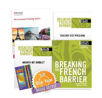 Breaking the French Barrier Level 1 (Beginner) Homeschool Package + Digital Audio & Enhancements Online Access Code - 1