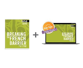 Breaking the French Barrier Level 1 (Beginner) Student Book + Digital Audio & Enhancements Online Access Code - 1 Year S