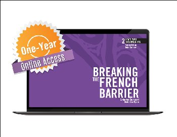 Breaking the French Barrier Level 2 (Intermediate) Digital Audio & Enhancements Online Access Code - 1 Year Subscription