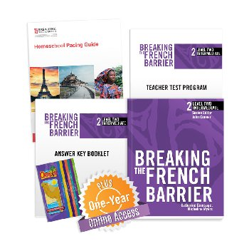 Breaking the French Barrier Level 2 (Intermediate) Homeschool Package + Digital Audio & Enhancements Online Access Code