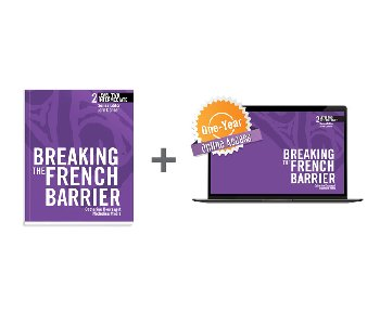 Breaking the French Barrier Level 2 (Intermediate) Student Book + Digital Audio & Enhancements Online Access Code - 1 Ye