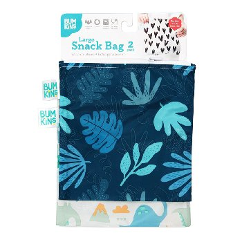 Reusable Snack Bag - Large (2 Pack) (Dinosaur)