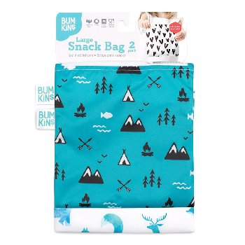 Reusable Snack Bag - Large (2 Pack) (Woodsy Theme)