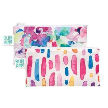 Reusable Snack Bag - Small (2 Pack) (Watercolors)