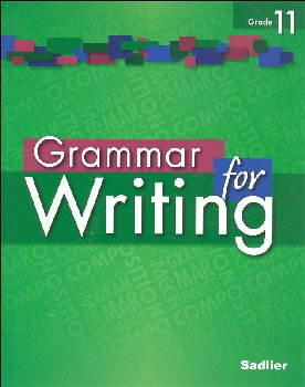 Grammar for Writing Student Edition Grade 11