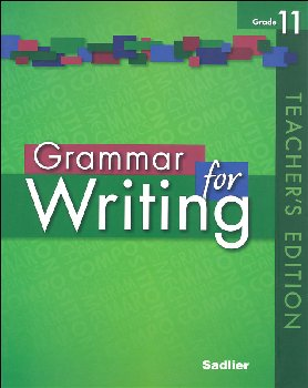 Grammar for Writing Teacher's Edition Grade 11