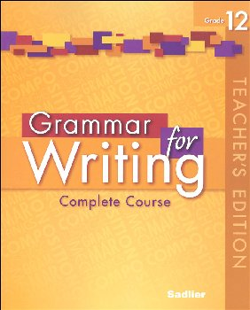 Grammar for Writing Teacher's Edition Grade 12
