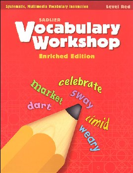 Vocabulary Workshop Enriched Student Edition Grade 1 (Red)