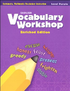 Vocabulary Workshop Enriched Student Edition Grade 2 (Purple)