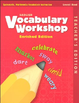 Vocabulary Workshop Enriched Teacher Edition Grade 1 (Red)