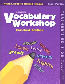 Vocabulary Workshop Enriched Teacher Edition Grade 2 (Purple)