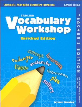 Vocabulary Workshop Enriched Teacher Edition Grade 5 (Blue)