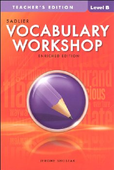 Vocabulary Workshop Enriched Teacher Edition Grade 7 (Level B)