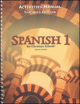 Spanish 1 Student Activity Manual Teacher Edition