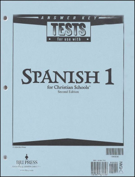 Spanish 1 Tests Answer Key 2ED