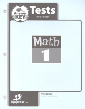 Math 1 Test Pack Answer Key 3rd Edition