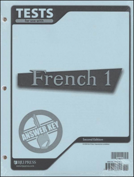 French 1 Tests Answer Key 2ED