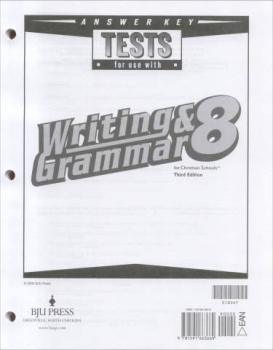 Writing/Grammar 8 Testpack Answer Key