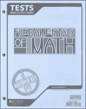 Fundamentals of Math Tests Answer Key 2nd Edition