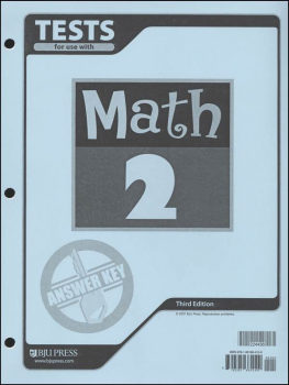 Math 2 Testpack Answer Key