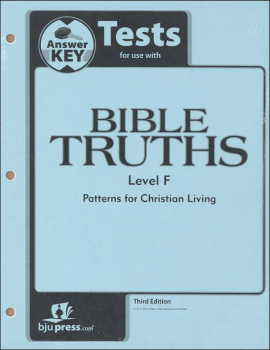Bible Truths F Testpack Answer Key 3rd Edition