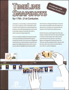 Heritage Studies TimeLine Snapshots 3rd Edition