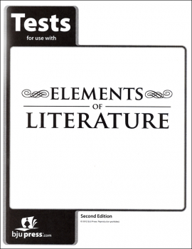 Elements of Literature Tests 2nd Edition