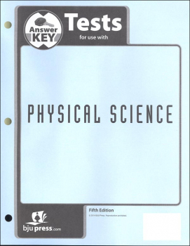 Physical Science Tests Answer Key 5th Edition