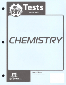 Chemistry Tests Answer Key 4th Edition