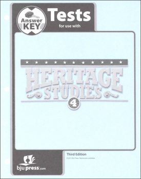 Heritage Studies 4 Tests Answer Key 3rd Edition