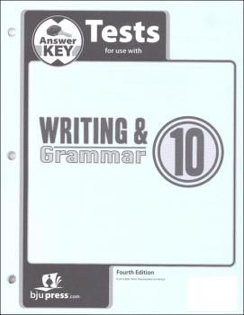 Writing/Grammar 10 Test Answer Key 4th Edition