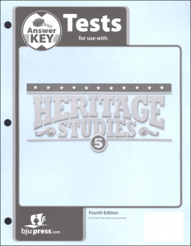 Heritage Studies 5 Tests Answer Key 4th Edition