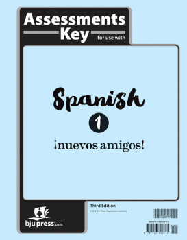 Spanish 1 Assessments Answer Key 3rd Edition